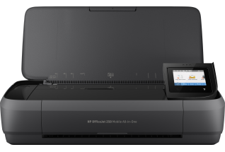 HP OfficeJet 250 Mobile All-in-One, Center, Front, no output.