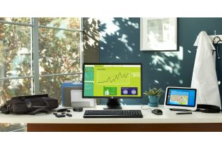 HP Healthcare Tablet on ElitePad Docking Station, S231d Display, ElitePad HDMI/VGA Adapter, ElitePad