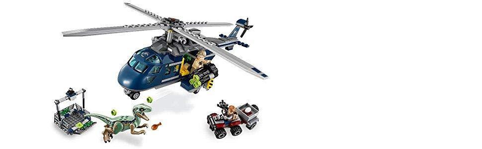 LEGO Jurassic World - Persecución en Helicóptero de Blue - 75928 ...