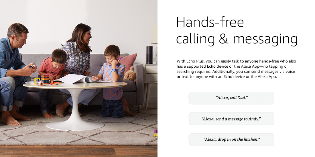 Amazon Echo Plus - With built-in smart home hub (Silver