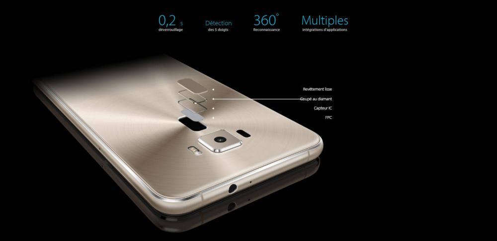 Le ZenFone 3 Est Ainsi Deverrouille En 02 Secondes Et Permet De Realiser Une Multitude Taches A Cote