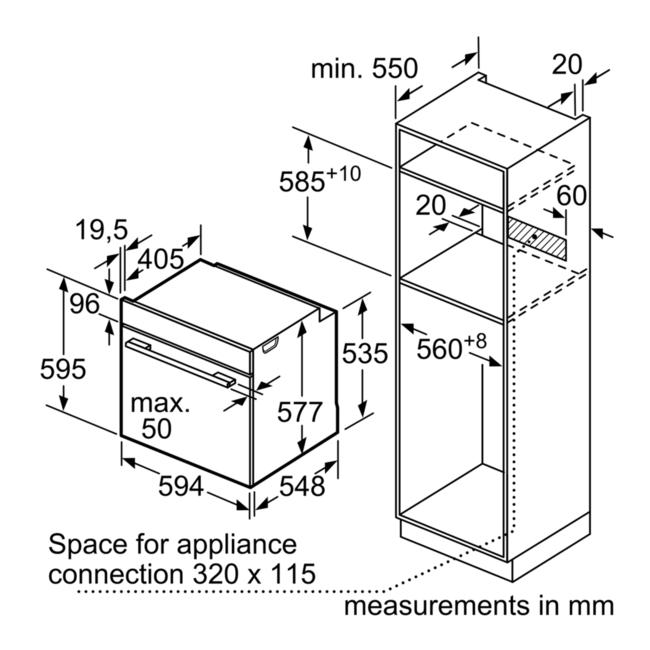 Neff B3ace4hn0b Single Oven Slide Hide Door Stainless Steel