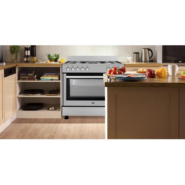 a1b3b2809b6 Maxi cuisinière 90 cm mixte BEKO GM 15121 DX - BEKO - Vente de ...