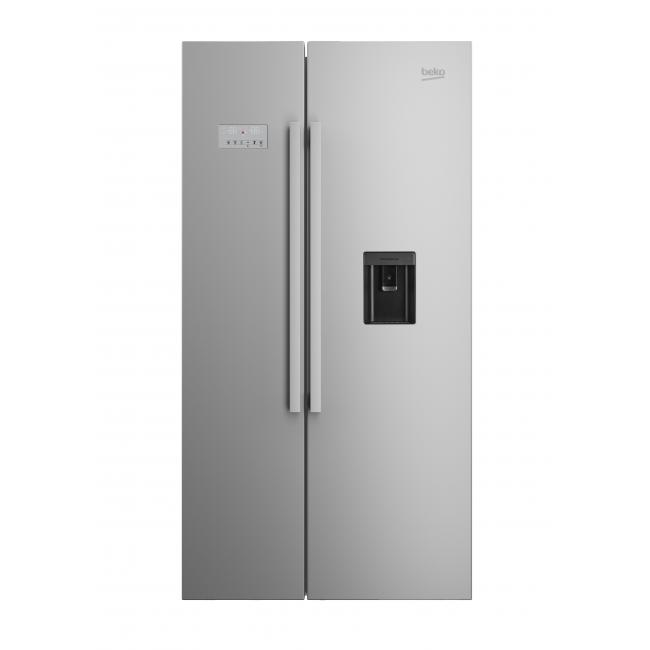 Beko ASD241X Fridge Freezer With 554 Litres Capacity And A+ Energy Rating  In Steel | Hughes