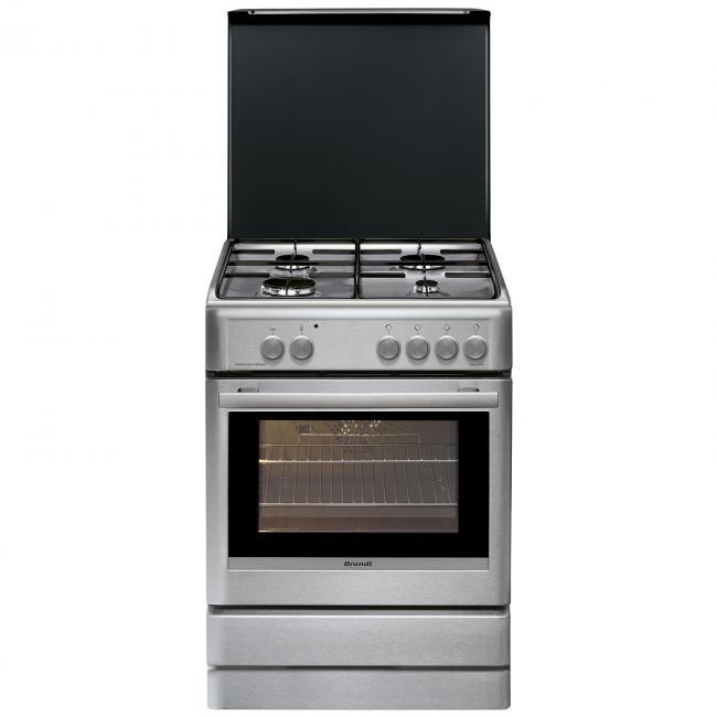 Gaziniere Brandt BCGX Darty - Cuisiniere mixte gaz four electrique pour idees de deco de cuisine