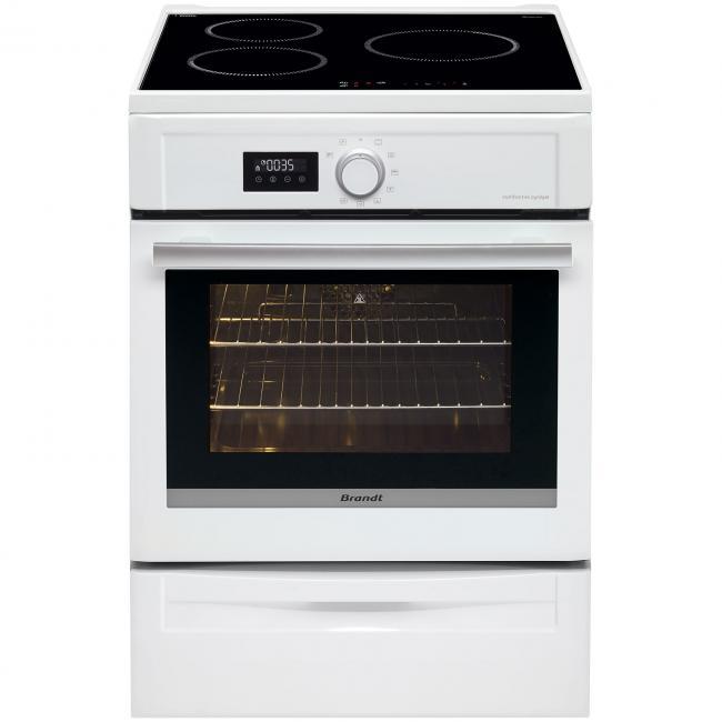 Cuisinière Induction Brandt BCIW Darty - Cuisiniere induction pyrolyse pour idees de deco de cuisine