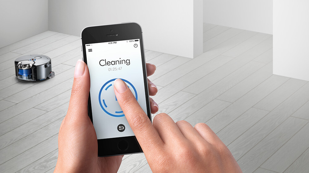 Schedule cleaning with the Dyson Link app.