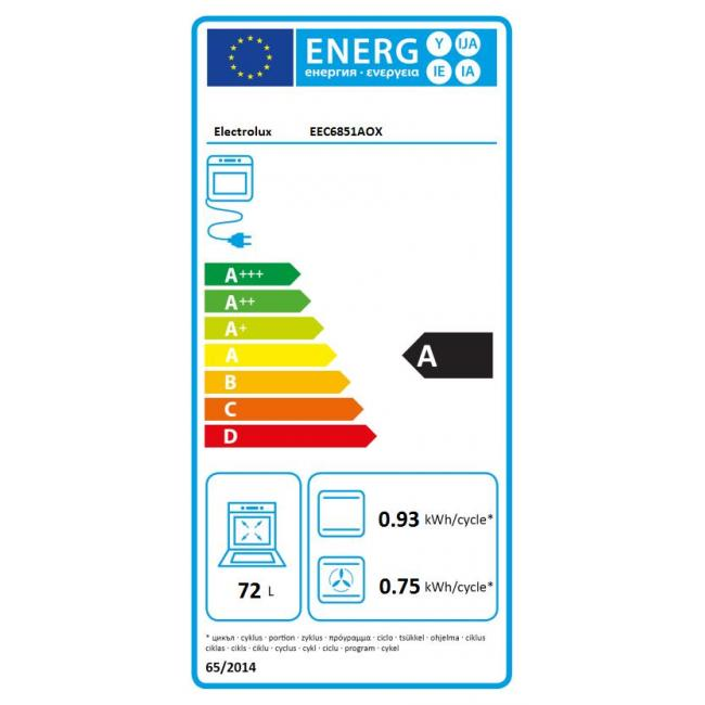 four encastrable electrolux eec6851aox (4015444) | darty