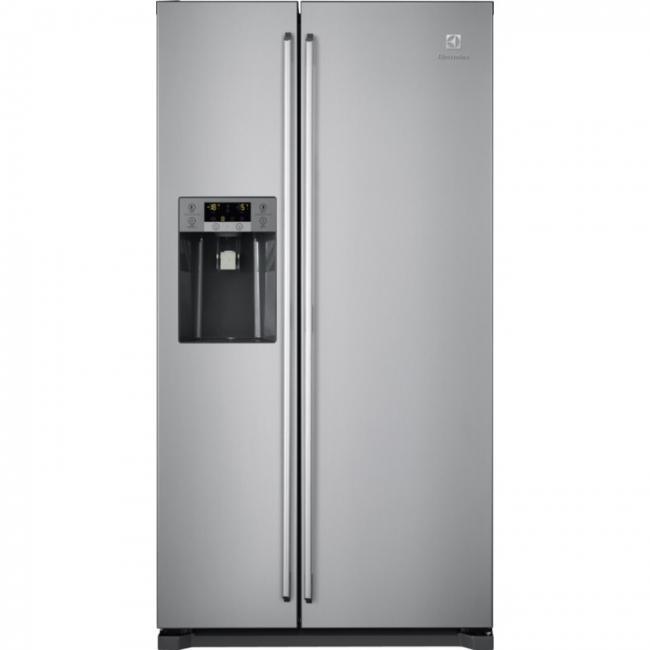 Réfrigérateur Américain L Pose Libre Cm Inox ELECTROLUX - Frigo americain 1 porte distributeur de glacons