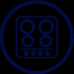 Dimensions produit Plaque de cuisson Induction Plaque Induction 2 feux-Hdc ELSA201 : 31 // 52 LxP en cm