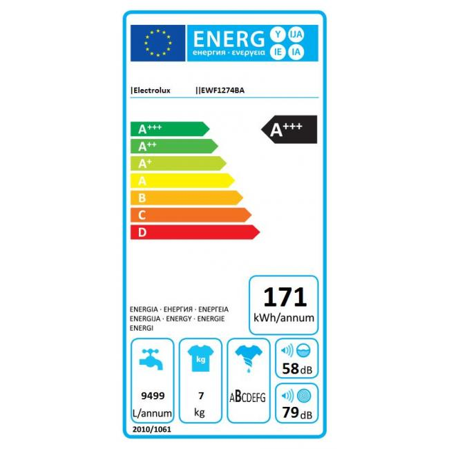 lave linge hublot electrolux ewf 1274ba (4134486) | darty