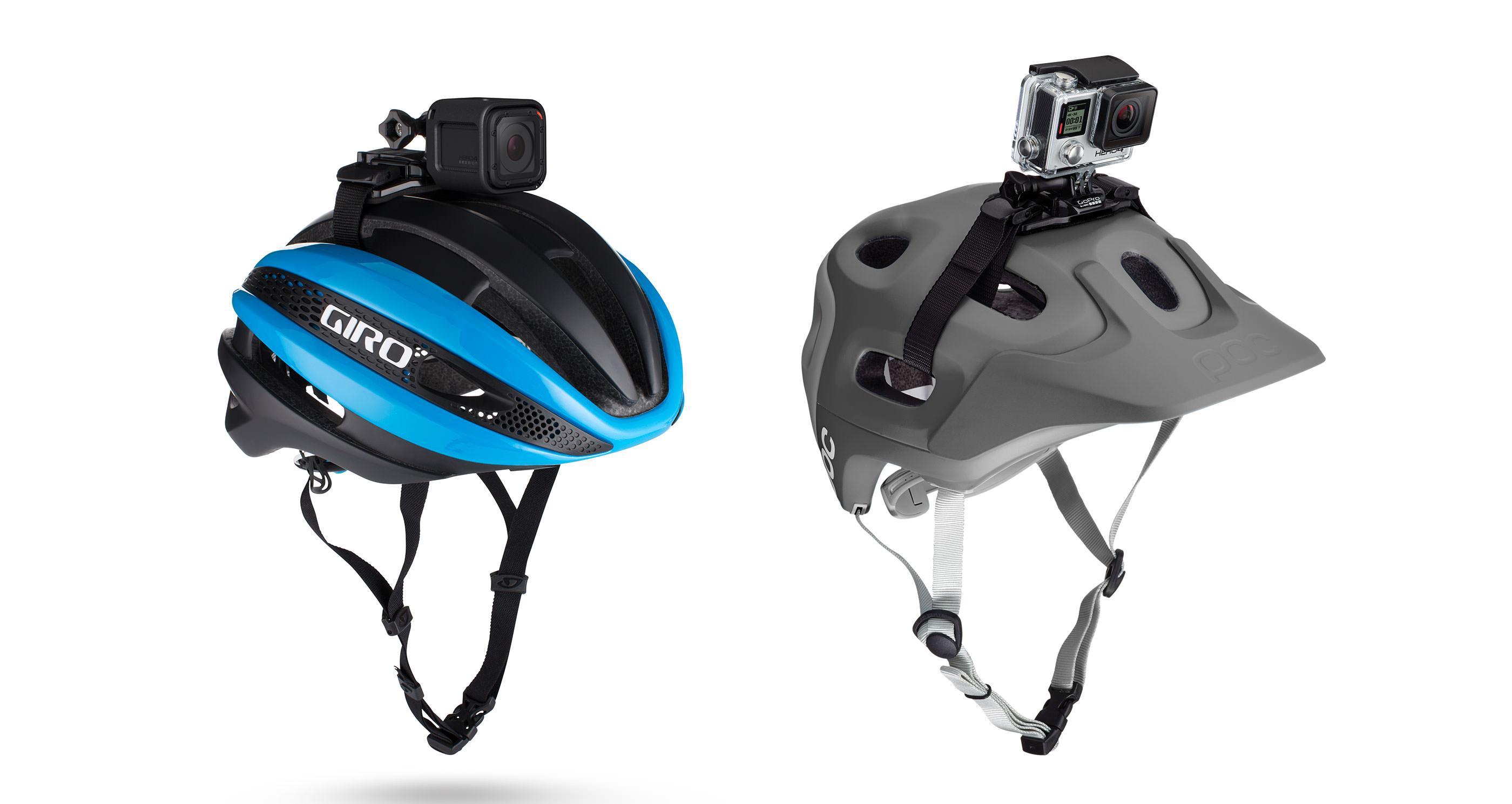 Gopro vented helmet strap camera mount.