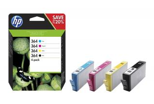 HP 364 CMYK Ink Cartridge Combo 4-Pack