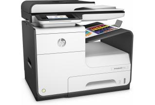 HP PageWide MFP 377dw MFP, Right facing, with output