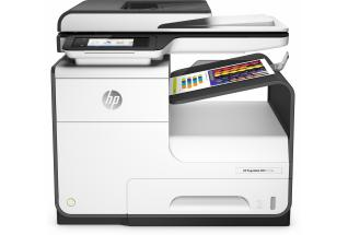 HP PageWide MFP 377dw MFP, Center, Front, with output