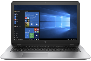 HP ProBook 470 G4, (nontouch) with Windows 10 screen, Catalog, Front Facing