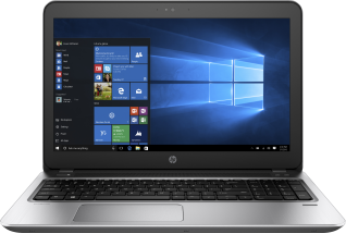 HP ProBook 455, (touch) with Windows 10 screen, Front Facing