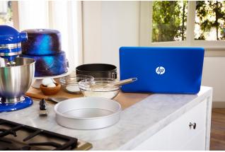 HP Pavilion Laptop on kitchen counter