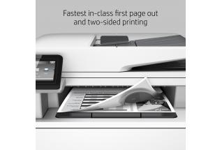 HP LaserJet Pro MFP M426fdn, annotated, fast first page out and two-sided printing