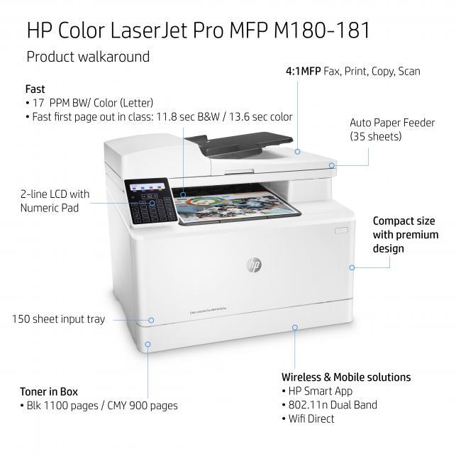 HP Color LaserJet Pro MFP M181fw von expert Technomarkt