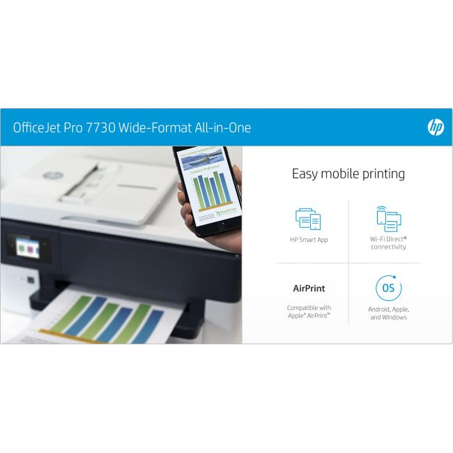 HP Officejet Pro 7730 all-in-one Inkjet Colour Printer A4