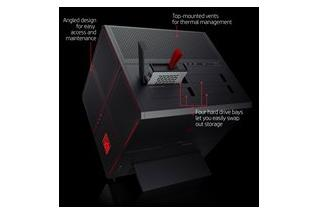 2C17 - OMEN X by HP Desktop 900-210 (jet black) with Windows 10, annotated, rear facing