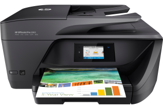 HP OfficeJet Pro 6960 All-in-One, Center, Front, with output