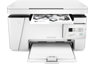 HP LaserJet Pro MFP M26a, Center, Front, with output