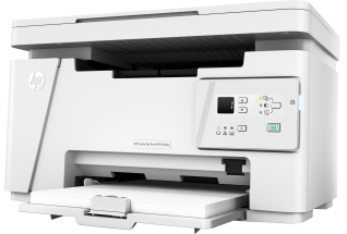 HP LaserJet Pro MFP M26a, Hero, Left facing, no output