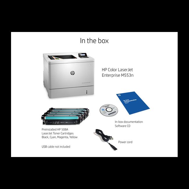 HP LaserJet Color Laser Printer, M553n Item # 930698
