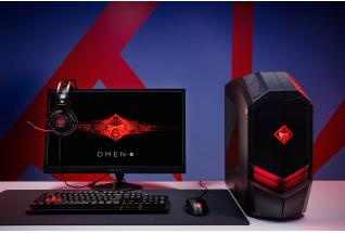 HP OMEN Desktop, Monitor, Headset, Keyboard, Mouse and Mousepad