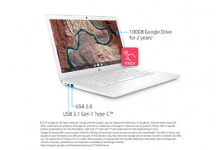 18C2 - HP Chromebook 14-db0070nr (14.0, touch, snow white), annotated, right facing