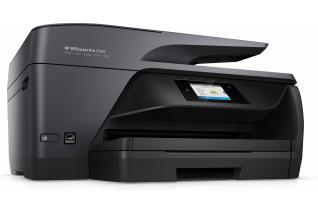 HP OfficeJet Pro 6960 All-in-One, Hero, Right facing, no output