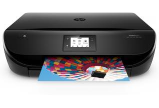 HP ENVY 4527 AiO Printer, Center, Front, with output