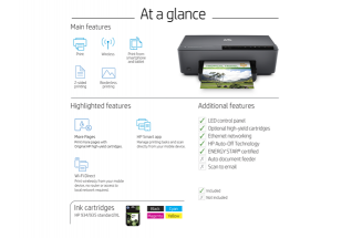 HP Officejet Pro 6230, At a glance non ii countries