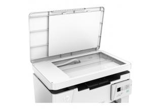 HP LaserJet Pro MFP M26a, Detailed view of open scanbed