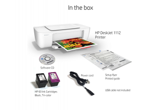 HP Deskjet 1112 Printer - What''s in the box