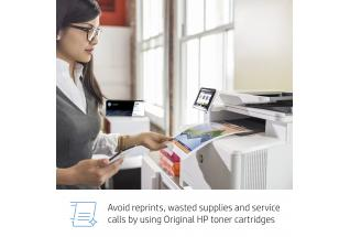 HP Color LaserJet Pro MFP M479fdw, annotated, key selling point, with output