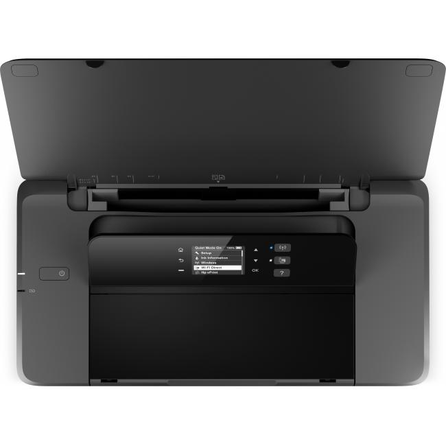 HP OfficeJet 200 Mobile Printer, Aerial/Top, open, no output