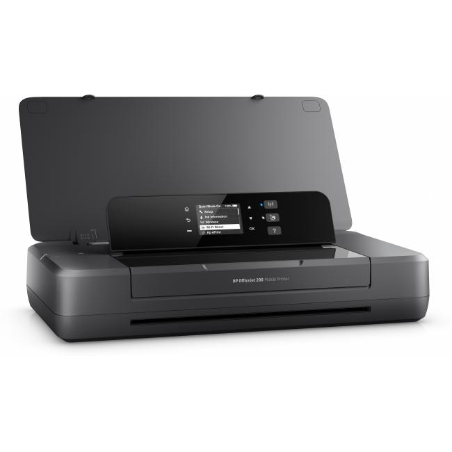 HP OfficeJet 200 Mobile Printer, Right facing, open, no output