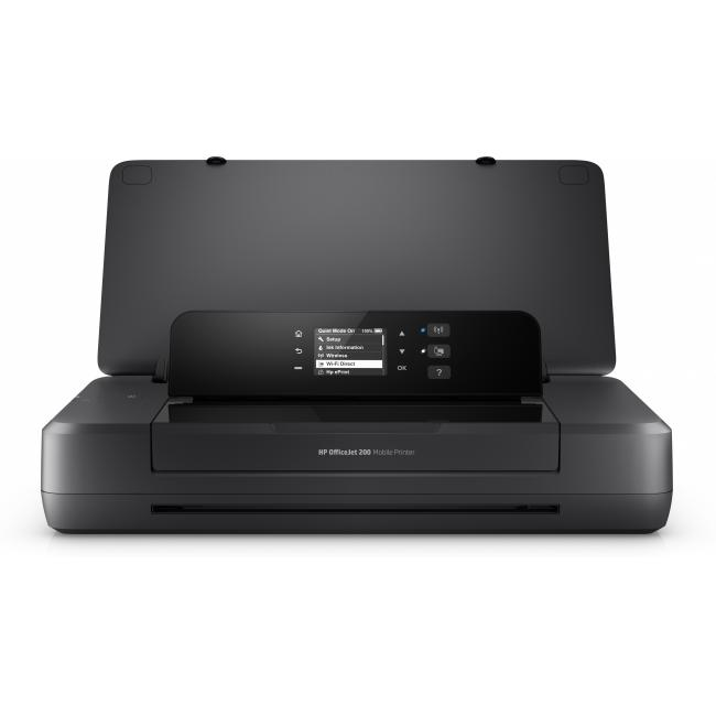 HP OfficeJet 200 Mobile Printer, Center, Front, open, no output