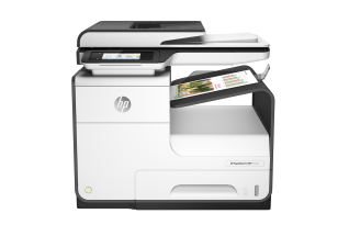 HP PageWide Pro MFP 477dn MFP, Center, Front, with output