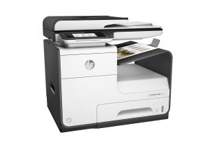 HP PageWide Pro MFP 477dn MFP, Right facing, with output