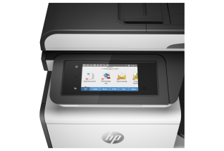 HP PageWide Pro MFP 477dn MFP, Detailed view of LCD screen