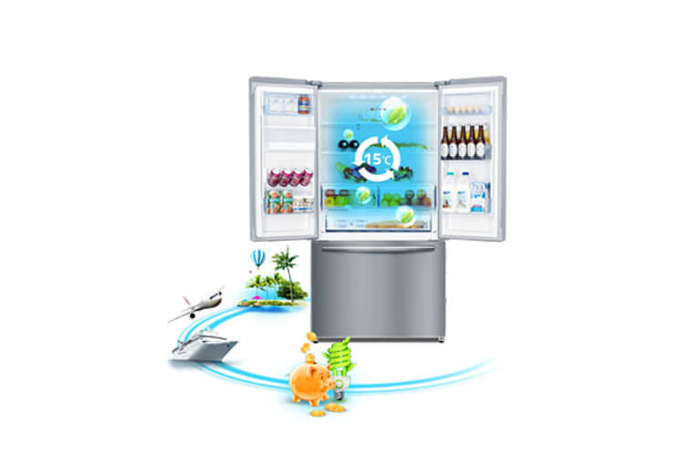 453 Litre Bottom Mount Refrigerator by Hisense