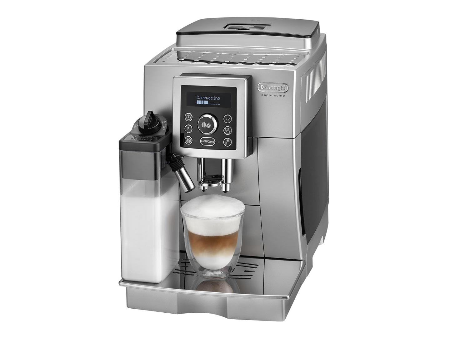 Kenwood_(Delonghi) 340767185 ECAM 23450S left_list buy delonghi ecam23 460 bean to cup coffee machine silver  at edmiracle.co