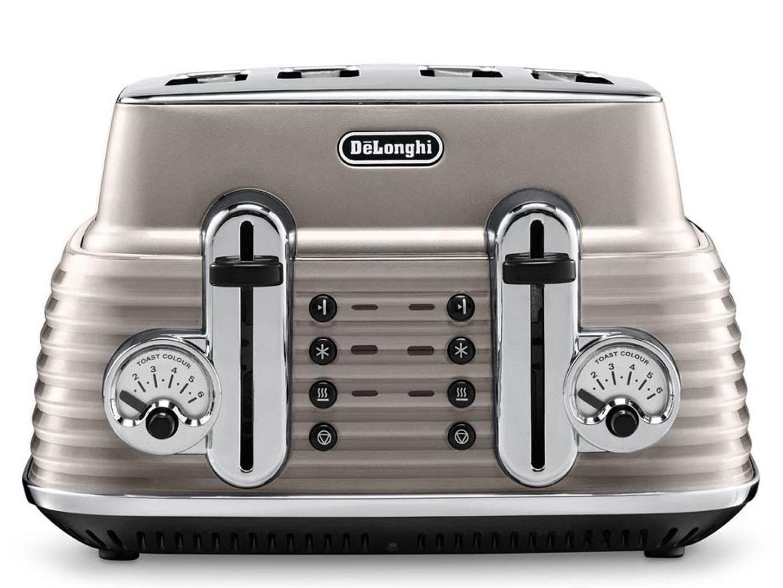 Buy DELONGHI Scultura CTZ4003BG 4 Slice Toaster Champagne