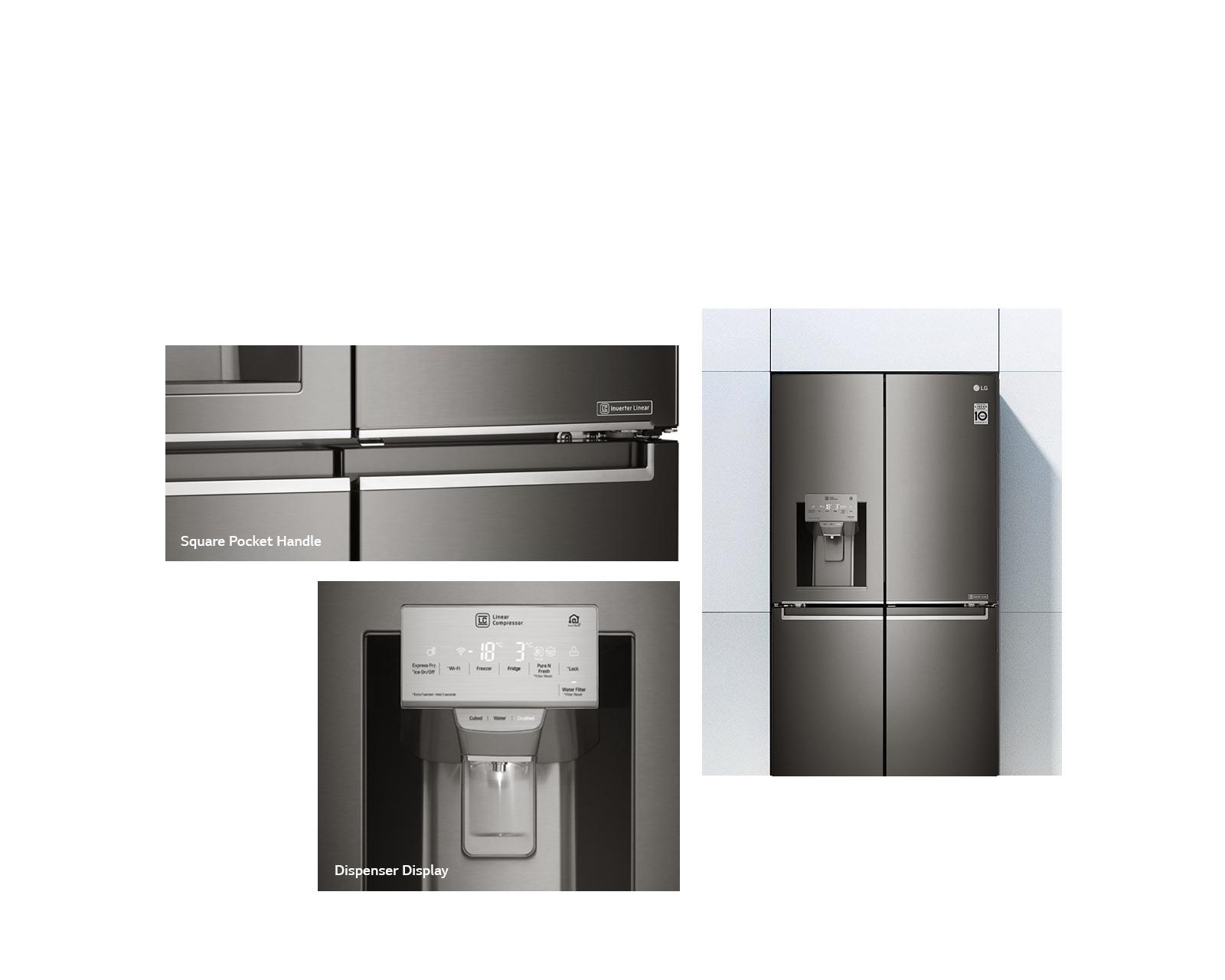 LG 708L French Door Fridge Buy line Heathcote Appliances