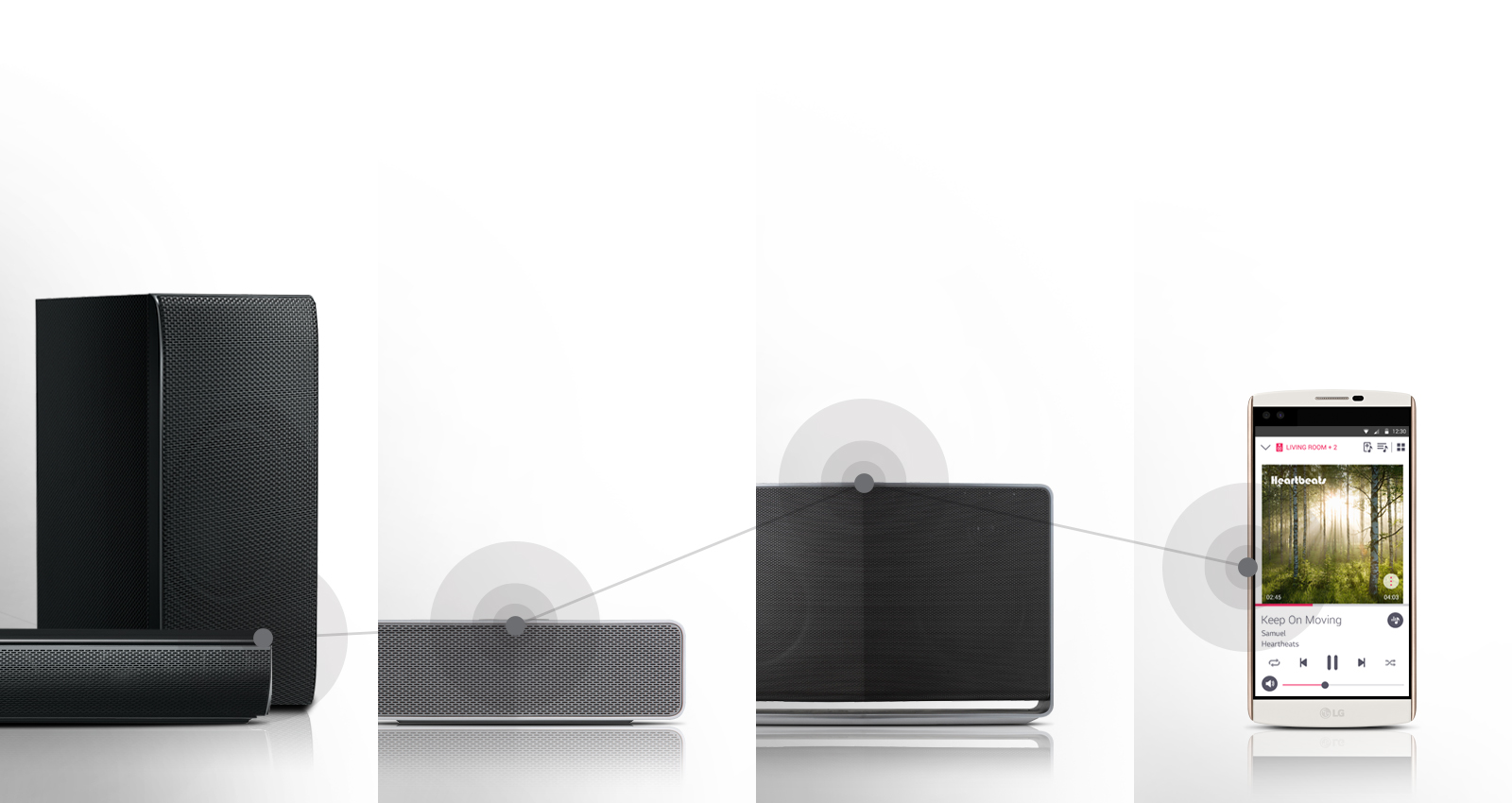 how to connect speakers to lg lf54