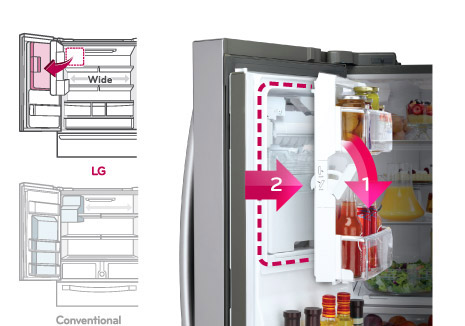 Buy Lg 613l French Door Fridge With Ice Water Dispenser Harvey